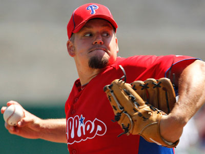 The Phillies will likely try to deal Joe Blanton during spring training for the second year in a row. (AP Photo/Gene J. Puskar)