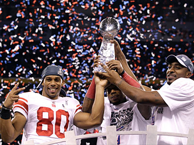 The Giants defeated the Patriots, 21-17, in the Super Bowl on Sunday. (David J. Phillip/AP)