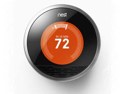 The Nest Learning Thermostat from Nest Labs of Palo Alto, California.  The company's scientists have roots in Apple, Google and Twitter.