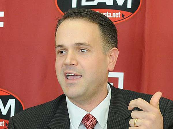 Temple football coach Matt Rhule holds a press conference to discuss<br />the high school and junior college student-athletes committing to Temple on National Signing Day, Wednesday, Feb. 6, 2013. (Clem Murray/Staff Photographer)