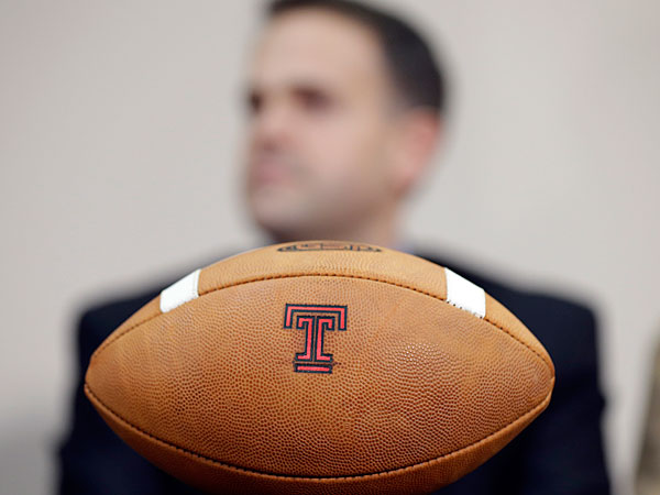 Temple head coach Matt Rhule. (AP Photo/Matt Rourke)