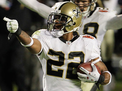 Tracy Porter´s 74-yard interception return sealed the Saints´ first ever Super Bowl title. (Lynne Sladky/AP)