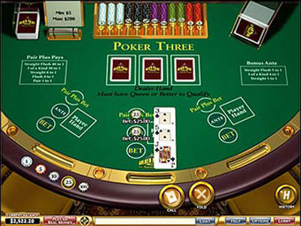Online poker.