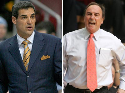 Jay Wright (left) and Fran Dunphy have led their teams into the top 25 as the season winds down. (Staff and AP Photos)
