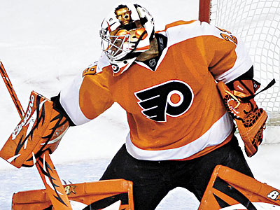 Flyers goalie Ray Emery will miss three more weeks, and his season could be in jeopardy. (Matt Slocum/AP file photo)