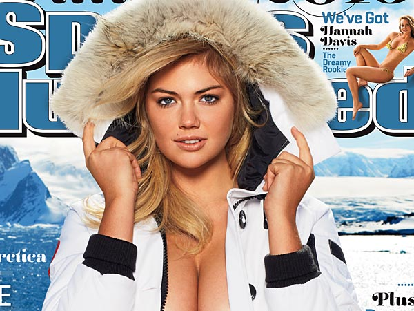 This image provided by Sports Illustrated shows the cover of the magazine´s 2013 Swimsuit Edition featuring Kate Upton, which will launch across multiple platforms on Monday, Feb. 11, 2013.