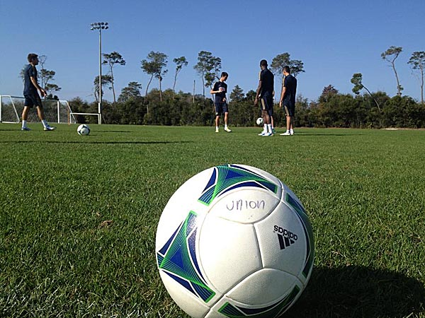 The Union have been training at Dewey O. Boster Sports Complex in Deltona. (Photo via Philadelphia Union)