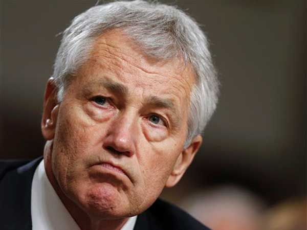 FILE - In this Jan. 31, 2013 file photo, former Nebraska Sen. Chuck Hagel testifies on Capitol Hill in Washington before the Senate Armed Services Committee´s confirmation hearing. Countering the Republican-led opposition to President Barack Obama´s nominee for defense secretary is a less flashy but powerful constituency _ military veterans. Longstanding veterans´ organizations have praised Hagel, a twice-wounded combat veteran of Vietnam and deputy administrator in President Ronald Reagan´s Veterans Administration. (AP Photo / J. Scott Applewhite, File)