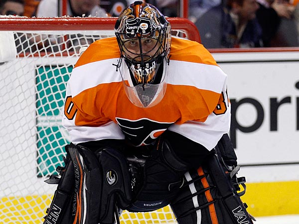 Flyers goalie Ilya Bryzgalov. (Yong Kim/Staff Photographer)