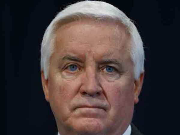 Gov. Tom Corbett on Friday, Jan. 11, 2013, in Plymouth Meeting, Pa.  (AP Photo/Matt Rourke)