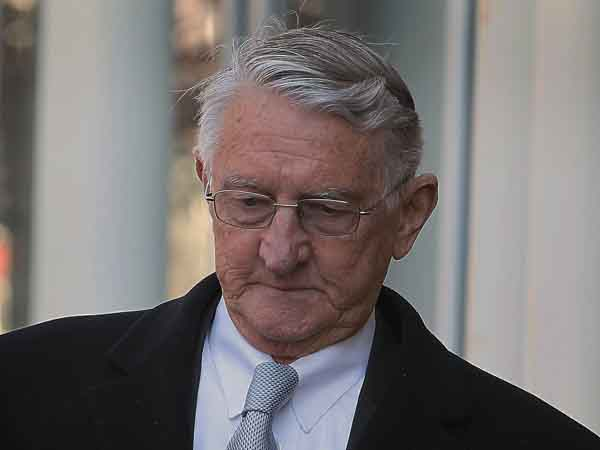 Retired Traffic Court Judge Warren Hogeland leaves the U.S Courthouse in Philadelphia on Tuesday, February 12, 2013. Judge Hogeland plead guilty to ticket fixing. ( ALEJANDRO A. ALVAREZ / STAFF PHOTOGRAPHER )