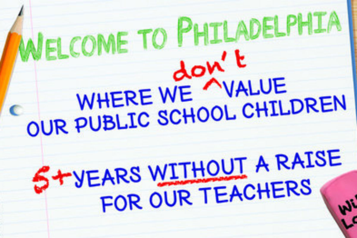 A Philadelphia teacher has raised over $5,000 to place a billboard on I-95 attempting to shame city and school district leaders over the lack of a teachers´ contract.