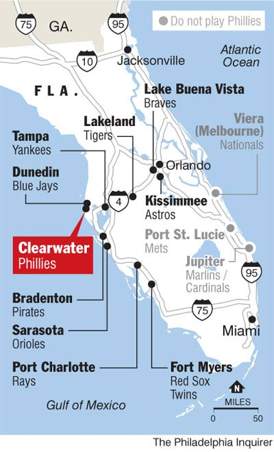 Florida Spring Training Locations Map Pictures To Pin On
