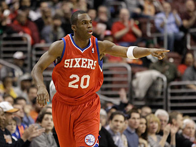 Sixers guard Jodie Meeks has made 58-of-134 from beyond the arc for 43.3 percent. (Matt Slocum/AP)