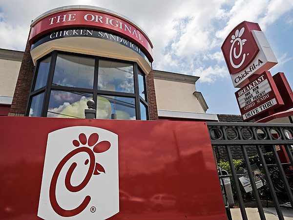 Chick-Fil-A´s history of being against equal rights for the lesbian, gay, bisexual and transgender community has stirred up a lot of controversy. (Mike Stewart/AP file photo)