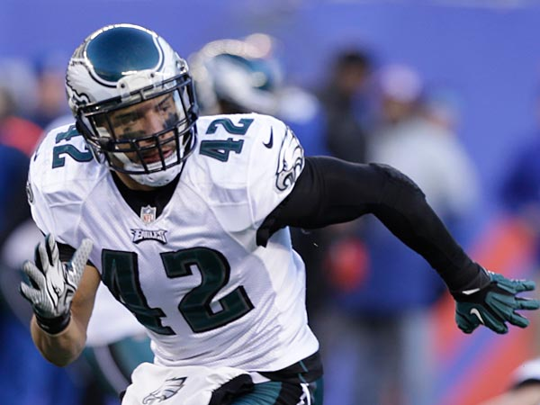 Philadelphia Eagles´ Kurt Coleman during the second half of an NFL football game against the New York Giants Sunday, Dec. 30, 2012 in East Rutherford, N.J. (AP Photo/Kathy Willens)