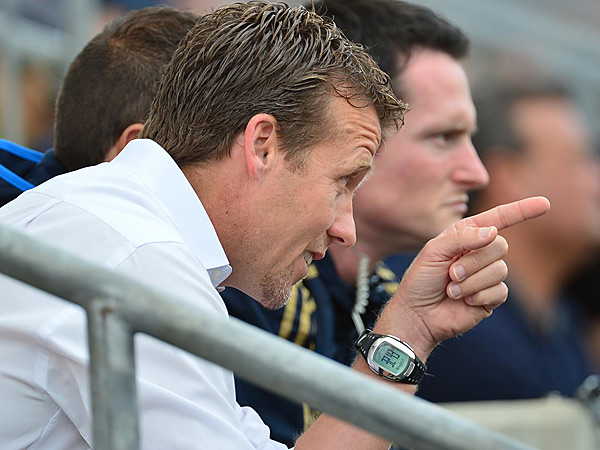 Union manager John Hackworth doesn´t put much stock in the final score of preseason matches. (Photo via Philadelphia Union)