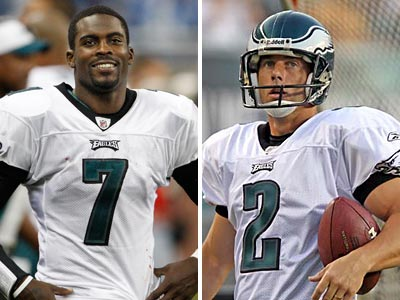 Michael Vick signed his tender from the Eagles, but David Akers did not. (Staff Photographs)