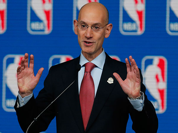 NBA Commissioner Adam Silver speaks at a news conference before the skills competition at the NBA All Star basketball weekend, Saturday, Feb. 15, 2014, in New Orleans. (Bill Haber/AP)