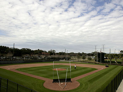 Several Phillies pitchers and catchers have arrived at Bright House Field in Clearwater for spring training. (Yong Kim / Staff Photographer)