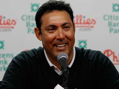 """""""Our scouts have seen him and we like him,"""" Ruben Amaro Jr. said about Jorge Soler.  (AP Photo/Matt Slocum)"""