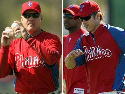 "Ryne Sandberg said that Chase Utley ""fits right into the mold that I played in."" (Yong Kim/Staff Photos)"