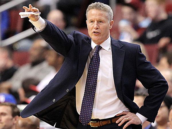 76ers head coach Brett Brown. (Yong Kim/Staff Photographer)