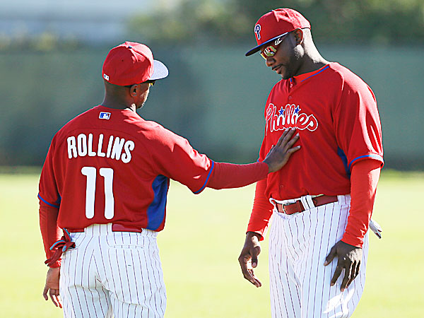 Phillies shortstop Jimmy Rollins and first baseman Ryan Howard. (Charlie Neibergall/AP)