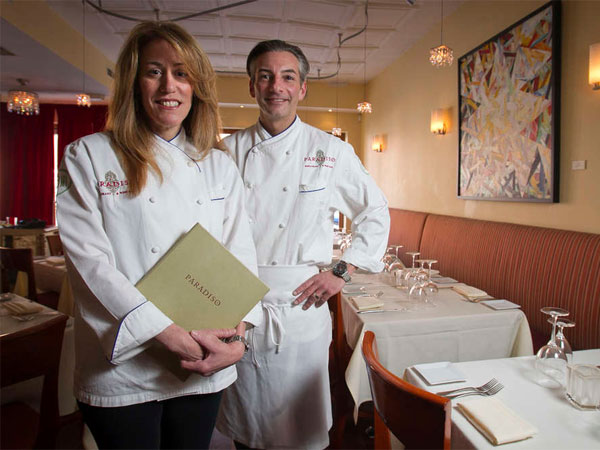 Lynn Rinaldi opened Paradiso in 2004 and married Corey Baver, the restaurant´s cook, four years later. (Alejandro A. Alvarez / Staff Photographer)