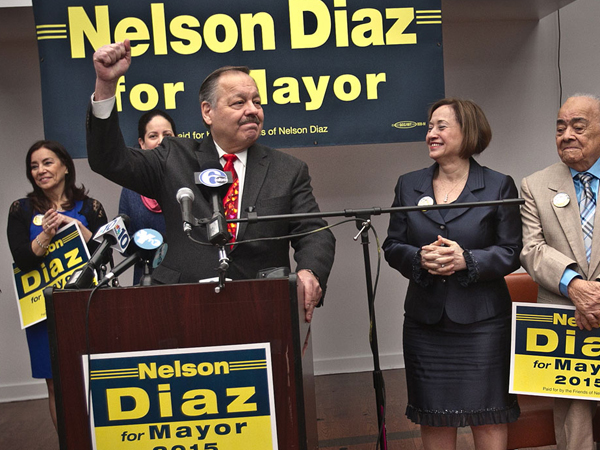 Nelson Diaz at his campaign kickoff. (FILE)