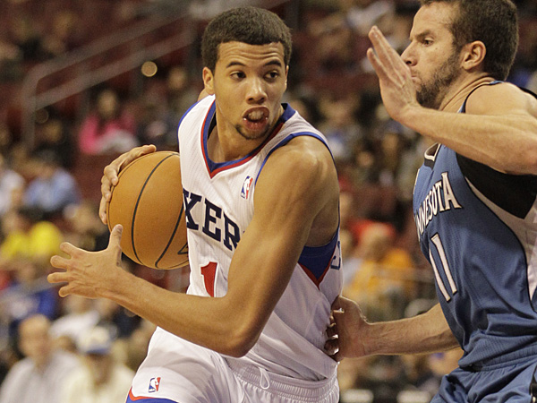 Philadelphia 76ers rookie point guard Michael Carter-Williams. (Laurence Kesterson/AP)