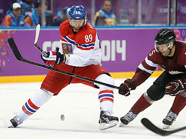 The Flyers´ Jakub Voracek played for the Czech Republic in Sochi. (Mark Humphrey/AP)