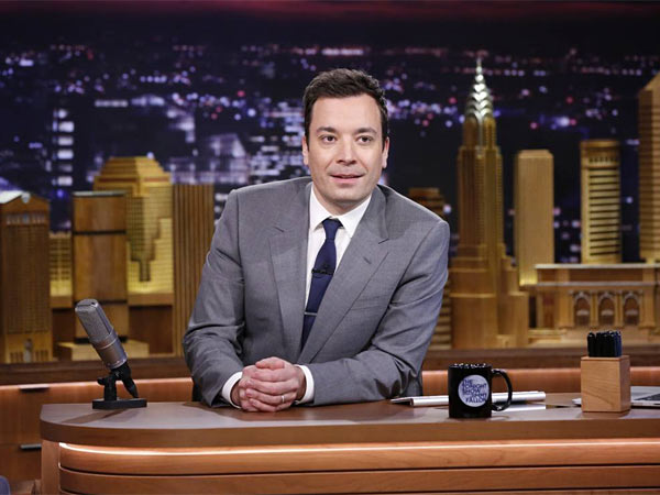 Tonight Show host Jimmy Fallon escaped unharmed after he was reportedly caught up in a bar fight in New York City on Thursday night.  (AP Photo/NBC, Lloyd Bishop)
