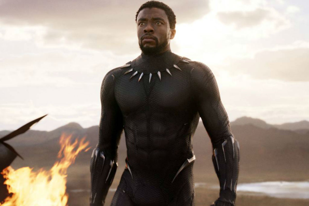 "FILE - This file image released by Disney and Marvel Studios´ shows Chadwick Boseman in a scene from ""Black Panther."" ""Black Panther"" has become the first film since 2000´s ""Avatar"" to top the weekend box office five straight weekends. According to studio estimates Sunday, March 18, 2018, ""Black Panther"" grossed $27 million in ticket sales over the weekend, pushing its domestic haul to $605.4 million."