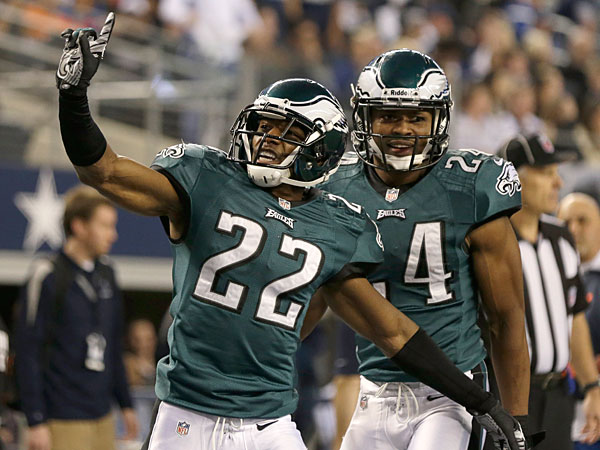 Eagles cornerbacks Brandon Boykin and Bradley Fletcher. (Tim Sharp/AP)