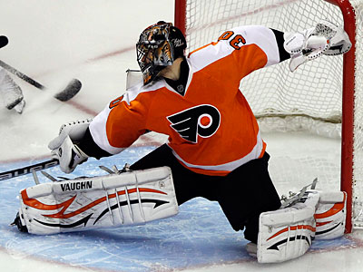 Goalie Ilya Bryzgalov allowed four goals in the Flyers in over Winnipeg. (Alex Brandon/AP Photo)