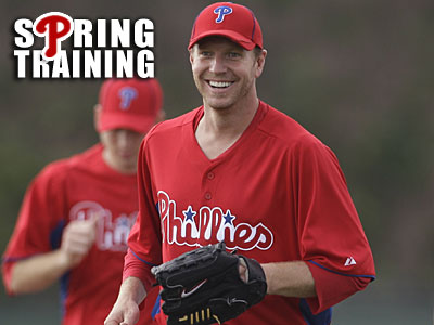 """I was not wrestling snakes,"" Roy Halladay said. ""I was nowhere near snakes."" (AP Photo/Matt Slocum)"