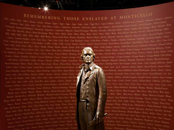 An exhibit opening in April at the National Constitution Center will focus on slavery at Thomas Jefferson´s plantation, Monticello. (Photo courtesy of National Constitution Center)