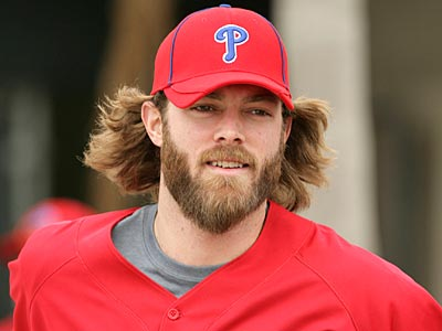 Jayson Werth showed up for spring training with a beard. (Yong Kim/Staff Photographer)