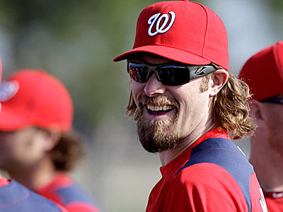 Jayson Werth talked about the Phillies while addressing the media today at Nationals spring training. (AP Photo/David J. Phillip)