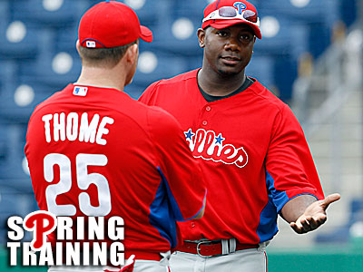 """""""I'm going to listen to my body and see where we are,"""" Ryan Howard said about his return. (Yong Kim/Staff Photographer)"""