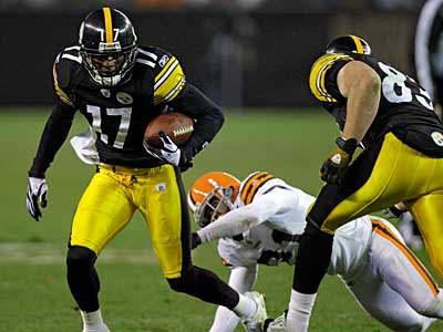 Mike Wallace might not be back with the Steelers next season. (AP Photo / Mark Duncan)