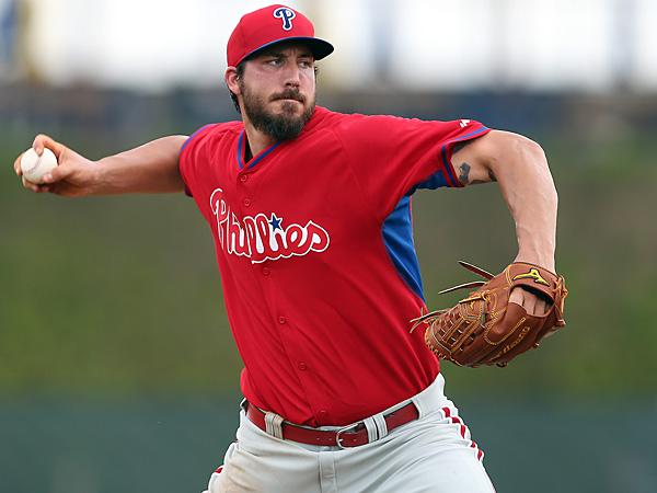 Phillies pitcher Phillippe Aumont. (David Maialetti/Staff Photographer)