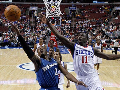 The Sixers beat the Wizards, 117-94, at the Wells Fargo Center. (Matt Slocum/AP Photo)