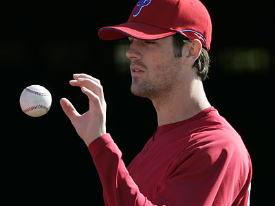 """I'll never regret anything I say because I learn from it,"" Cole Hamels said of calling the Mets ""choke artists"" a few months ago. (Eric Mencher/Staff Photographer)"