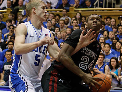 Duke´s defense stifled Lavoy Allen and Temple, especially during the second half. (Gerry Broome/AP)