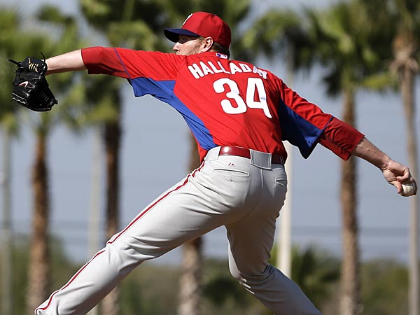Phillies starting pitcher Roy Halladay. (Matt Slocum/AP)
