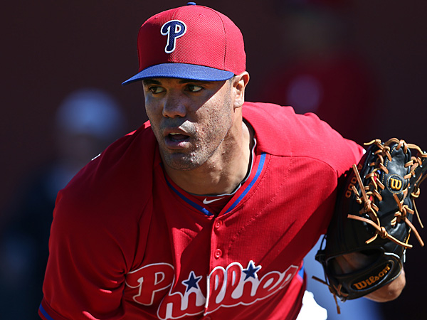 Phillies pitcher Miguel Gonzalez. (David Maialetti/Staff Photographer)