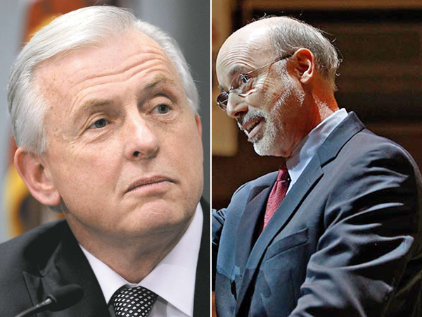 A new Quinnipiac University Poll has good news for Jack Wagner (left) and better news for Tom Wolf. (File Photos)