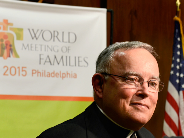 Archbishop Charles J. Chaput formally announced plans for Philadelphia to host the World Meeting of Families. (Tom Gralish / Staff Photographer)